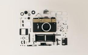 Wallpaper the camera, camera, lenses, lens, film, camera, inside, insides, film, lens