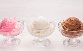 Picture ice cream, chocolate, dessert, strawberry, vanilla, ice cream
