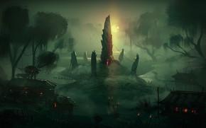 Picture totem, Swamp Rune, whitehex swamp environment