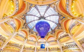 Wallpaper balloon, Paris, France, Department store, Galeries Lafayette
