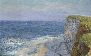 Picture sea, rocks, picture, Gustave Loiseau, Gustave Loiseau, Seascape at Etretat