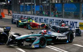 Picture race, track, Jaguar, the fence, check, 2016, Formula E, I-Type 1
