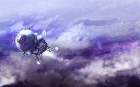 Picture space, clouds, planet, camera, Lander