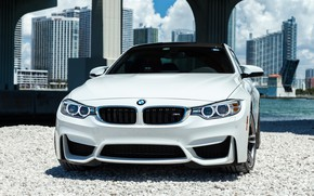 Picture BMW, Bridge, Water, White, Stones, Sight, F83