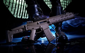 Picture weapons, background, machine, Magpul PTS
