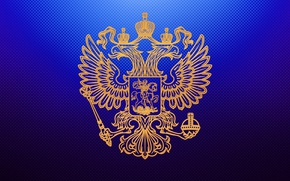Wallpaper wallpaper, claws, crown, gold, background, embossed, scumbria, the coat of arms of Russia, the state, ...