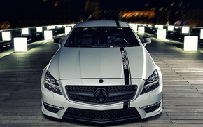 Picture machine, night, lights, AMG CLS63
