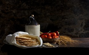 Picture food, tomatoes, crackers
