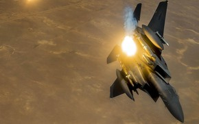 Picture UNITED STATES AIR FORCE, fighter-bomber, F-15E, Strike Eagle, McDonnell Douglas, American double, strike eagle