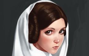 Wallpaper Star Wars, by ivantalavera, Leia