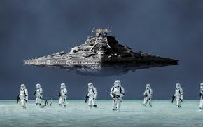 Wallpaper spaceship, imperial troops, stellar ship, pearls, storm troopers, blaster, destroyer, cinema, film, armor, spin-off, gun, ...