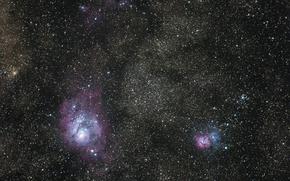 Picture space, nebula, Trifid, Lagoon