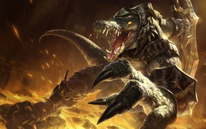 Picture the game, art, champion, sixmorevodka studio, Renekton - League of Legendss