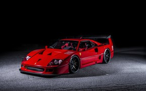 Wallpaper Ferrari, F40, Hyperforged, AutoPlazaDank