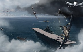 Picture battle, the carrier, aircraft, Navy Field, The aircraft carrier Yorktown