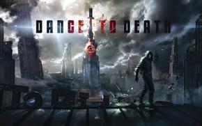 Picture roof, building, destruction, poster, Dance to Death