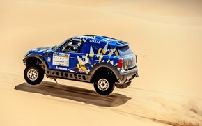 Picture Sand, Mini, Blue, Sport, Desert, Speed, Race, Rally, SUV, Rally, 209, X-Raid Team, MINI Cooper, …