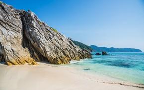 Picture sand, sea, wave, beach, summer, rocks, summer, beach, sea, rocks, sand, wave