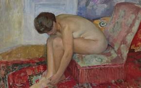 Picture erotic, picture, Henri Lebasque, Henri Lebacq, Seated Nude