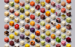 Picture food, cube, fruit, vegetables, core
