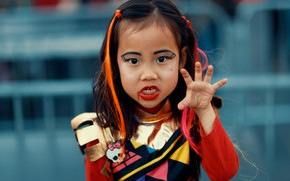 Picture face, style, hair, child, makeup, zombies