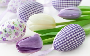 Picture flowers, spring, Easter, tulips, happy, flowers, tulips, spring, Easter, eggs, delicate, decoration, pastel