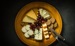 Picture food, cheese, grapes