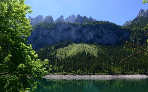 Picture austria, nature, mountain, lake, reflection