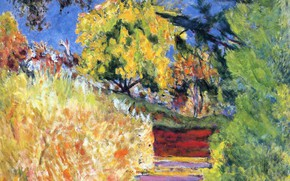 Picture steps, Pierre Bonnard, Nabi intimism, The place of the artist, The trees in the Park