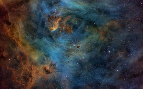 Picture space, beauty, nebula, IC 2944, The Heart, Running Chicken Nebula