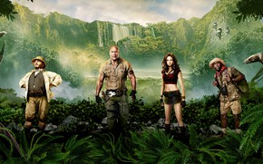 Wallpaper Action, Boys, Beautiful, Jumanji 2, Rhinoceros, Jungle, Family, Bikers, year, Rocks, ruby roundhouse, Dr. Smolder ...