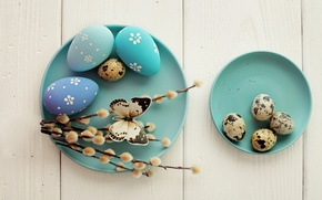 Wallpaper decoration, Verba, wood, Easter, Easter, eggs dyed, Happy, spring, eggs