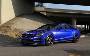 Picture Mercedes, Blue, AMG, Stuttgart, CLS63