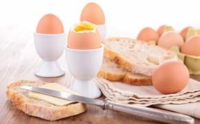 Picture oil, eggs, bread