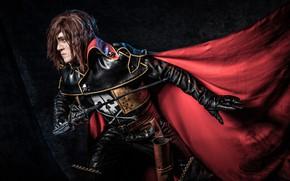 Picture cloak, scar, cosplay