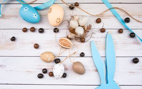 Picture eggs, rabbit, Easter, tape, Holiday, figure
