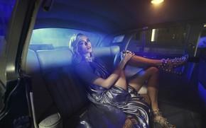 Picture night, model, blonde, Cara Delevingne
