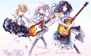 Picture girls, guitar, trio