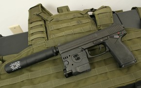 Picture gun, weapons, gun, pistol, weapon, Muffler, Heckler Koch, Silencer, Mark 23, Heckler & Koch, HM ...