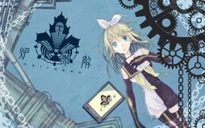 Picture house, anime, art, girl, Vocaloid, Vocaloid