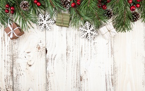 Wallpaper New Year, Christmas, wood, merry christmas, decoration