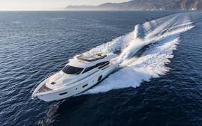 Picture Yacht, Sea, Luxury, Boat, Ferretti