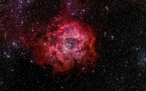 Wallpaper Rosette Nebula, space, space, stars, beauty
