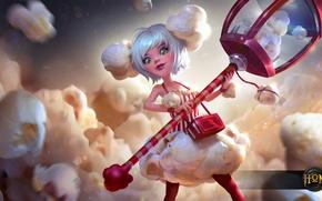 Picture girl, hon, pearl, art, popcorn, Heroes of Newerth, Popcorn Pearl