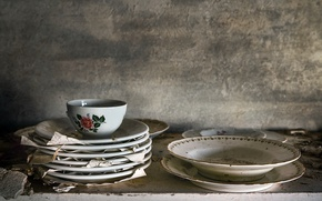 Picture background, Cup, plates