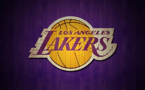 Picture wallpaper, sport, logo, basketball, NBA, Los Angeles Lakers