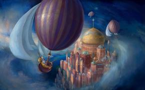 Picture The sky, Fiction, Balloon, Balloon
