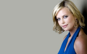 Picture look, Charlize Theron, model, earrings, actress, blonde, Charlize Theron