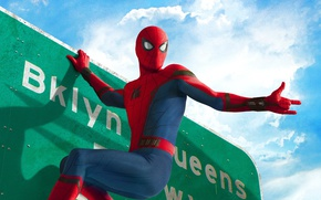 Picture cinema, Brooklyn, boy, movie, hero, film, mask, Spider, Spider-Man, Spiderman, yuusha, seifuku, Queens, Tom Holland, ...