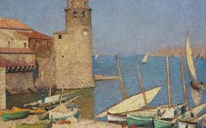 Picture tower, picture, boats, Henri-Jean Guillaume Martin, Henri Matrin, Port Kalliola